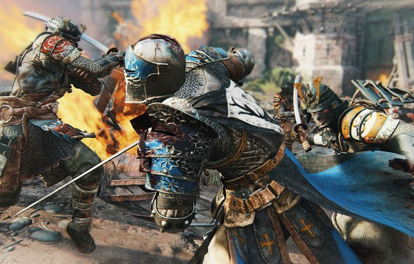 Picture sword, game, armor, weapon, fight, ken, blade, samurai, knight, For Honor, japonese, stripes