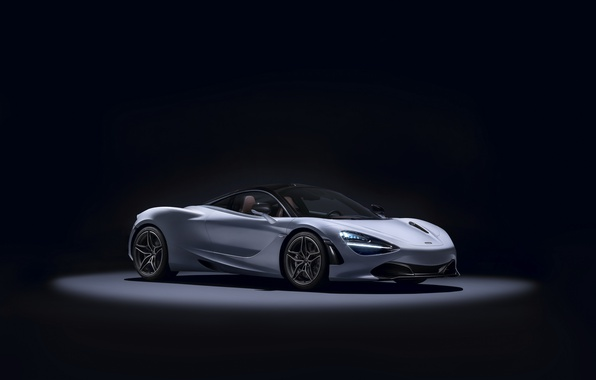 Picture McLaren, supercar, black background, Coupe, McLaren, MSO, 720S