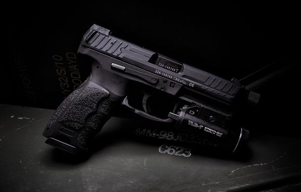 Wallpaper Gun Flashlight Tactical HK VP9 Images For Desktop Section