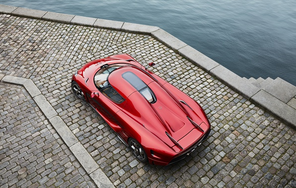 Photo wallpaper Koenigsegg, supercar, red, Regera, hypercar