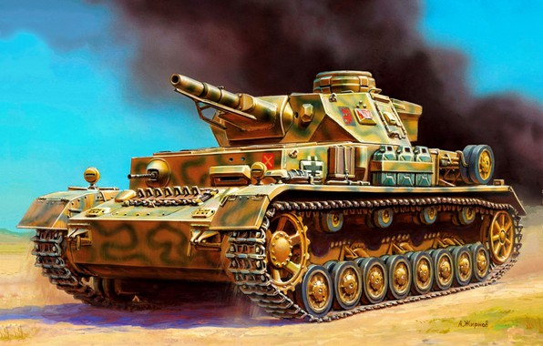 Picture Germany, art, Medium tank, Panzerkampfwagen IV, WW2, Pz.Kpfw, Panzerwaffe, Ausf D