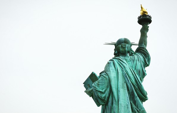 Picture ass, torch, the statue of liberty, rear view, back, torch, back view, The Statue of …