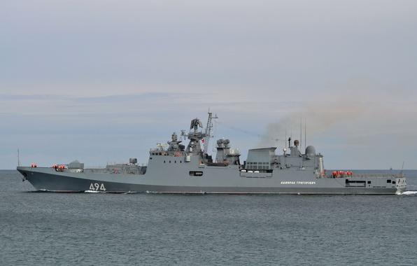 Picture ship, Navy, frigate, guard, Admiral Grigorovich, проек11356
