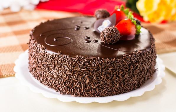 Picture cake, decoration, cream, chocolate, glaze