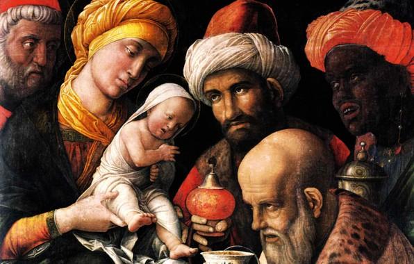Picture 1500, Huile sur Toile, Andrea Mantegna, The Adoration of the Magi