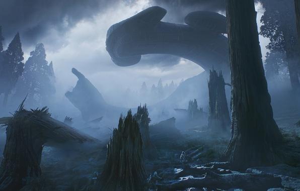 Picture cinema, forest, Alien, science fiction, tree, sci-fi, movie, fear, film, Alien: Covenant, Alien: Paradise Lost, …