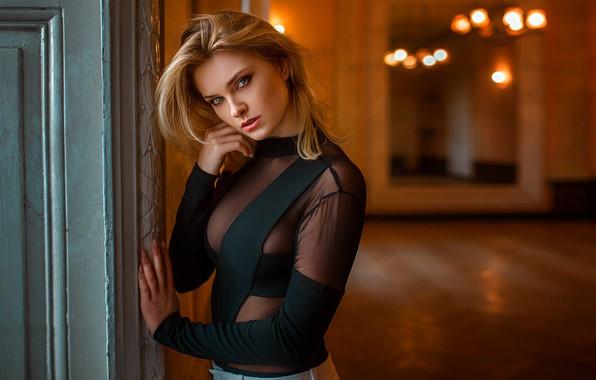 Picture look, girl, model, blonde, Carla Sonre, Damian Feather, carla sonre