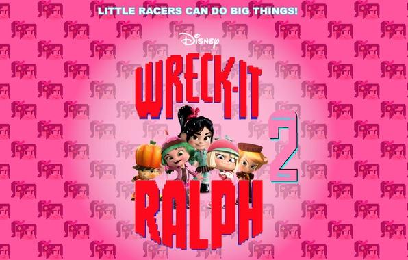 Picture background, cartoon, characters, Walt Disney, Ralph, Vanellope, Ralph, Wreck-It Ralph 2