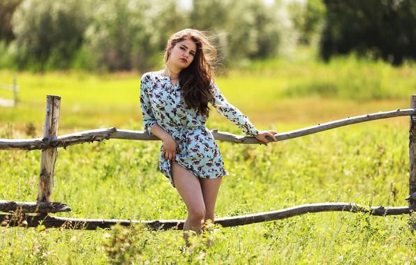 Picture summer, girl, dress, Kazakhstan, Sunny day, Murat Kuzhakhmetov