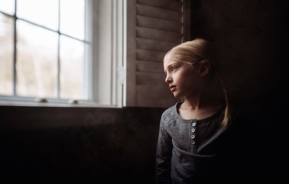 Picture house, mood, window, girl