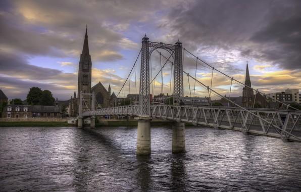 Picture water, landscape, bridge