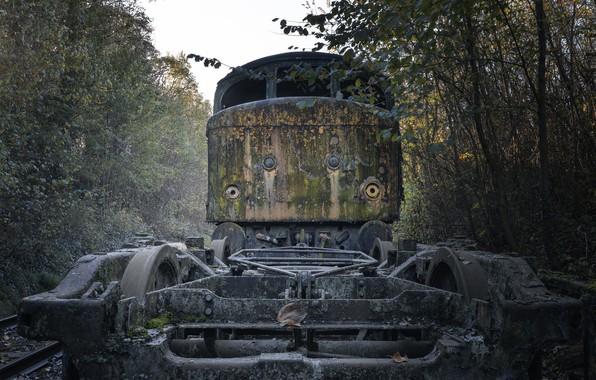 Picture locomotive, wheel, W/d, Train Graveyard, A B R I D G E D