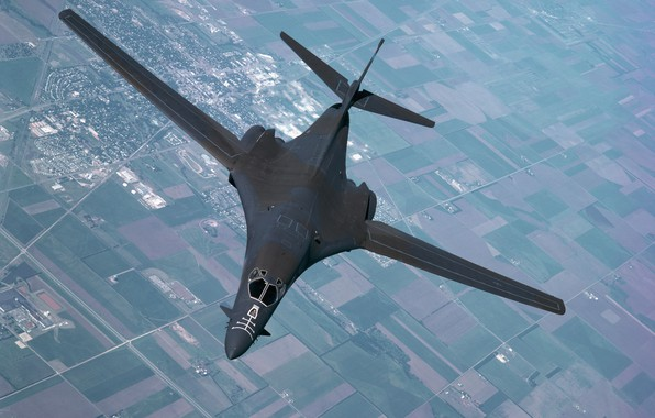 Picture the sky, aviation, the plane, army, wing, B-1B Lancer