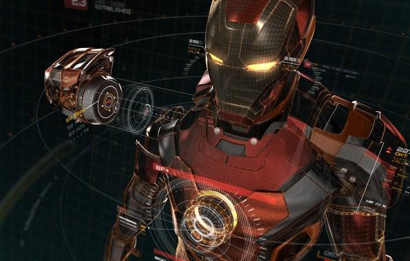 Picture vector, fantasy, armor, Iron Man, Marvel, digital art, Marvel Comics, artwork, superhero, fantasy art, comic, …