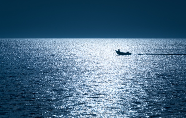 Picture sea, boat, Thailand, The Gulf of Thailand
