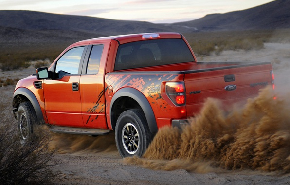 Picture Ford, dust, pickup, F-150, SVT