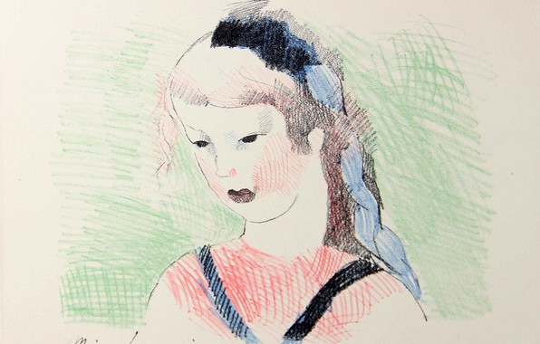 Picture Alice in Wonderland, 1930, Marie Laurencin, (illustration), color lithograph
