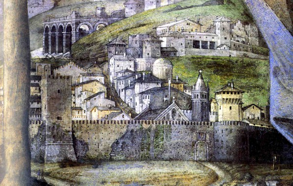 Picture the city, fortress, detail, The House of the Bridegroom