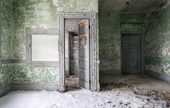 Picture room, wall, door