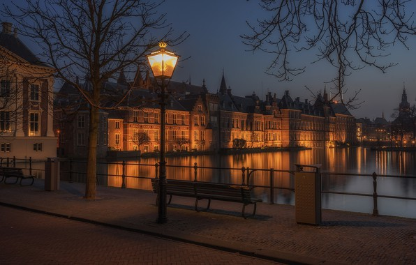 Picture Netherlands, Holland, The Hague, The Hague, Hofvijver