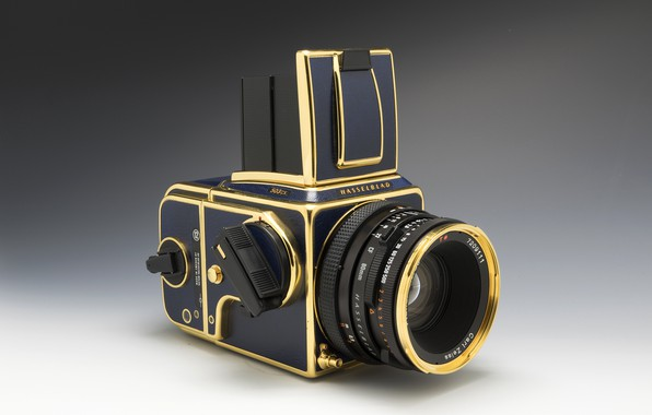Picture background, the camera, Hasselblad, 503CX, Golden Blue