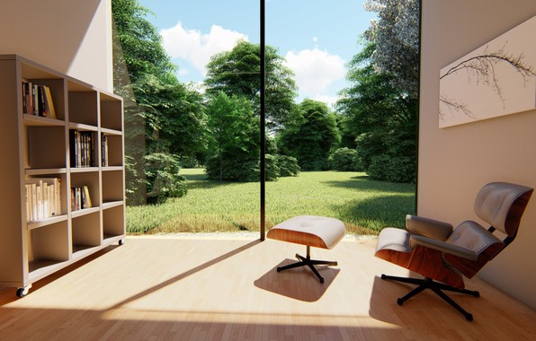 Picture picture, chair, the room, shelves, ARCHVIZ