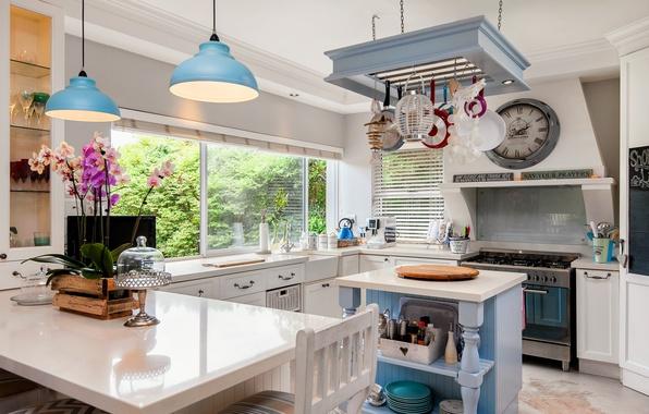 Picture design, furniture, lamp, kitchen, Orchid, decor