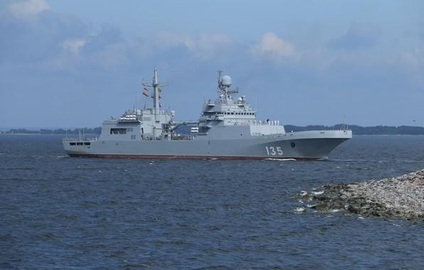 Picture ship, large, parade, Navy, landing, Ivan Gren