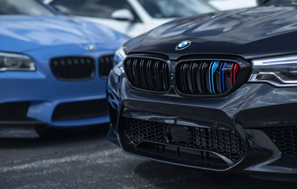 Picture BMW, Blue, Black, F10, Sight, F90