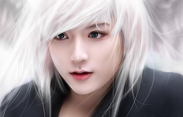 Picture face, guy, white hair, South Korea, South Korea, Asian, k-pop, Ren, NU`EST