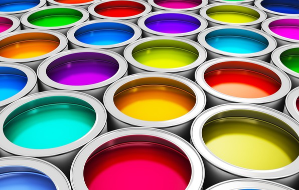 Picture paint, range, yellow, blue, green, purple, red, pink, orange, bright colors, reflections of light, the …