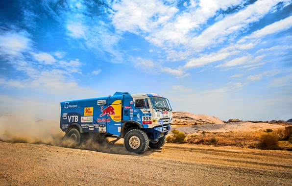 Picture The sky, Sand, Nature, Sport, Speed, Truck, Race, Master, Beauty, Russia, Beast, Kamaz, Rally, Rally, …