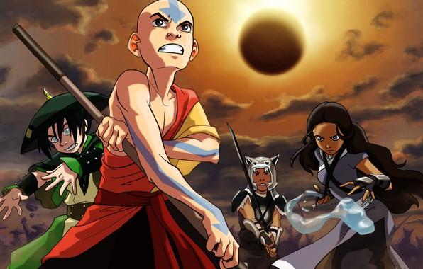 Picture Avatar, Avatar, Toph, Juice, Aang, Qatar, Katara, Nickelodeon, Aang, Pin