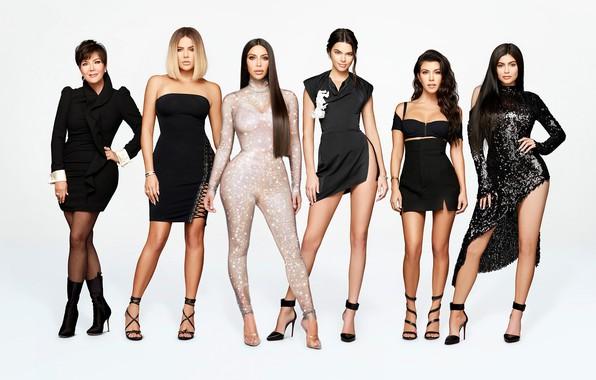 Photo Wallpaper Girls Dress Family Black Sisters Kylie Jenner