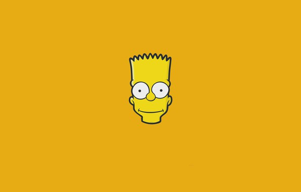 Picture The simpsons, Minimalism, Figure, Face, Head, Simpsons, Bart, Art, Cartoon, The Simpsons, 20th Century Fox, …