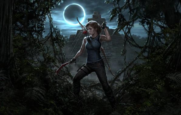 Picture Girl, Bow, Temple, Tomb Raider, Lara Croft, Lara Croft, Ice pick, Shadow of the Tomb …