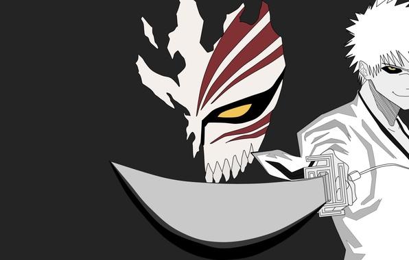 Wallpaper sword game bleach anime ken blade kurosaki ichigo mask japanese shinigami - Ichigo vizard mask ...