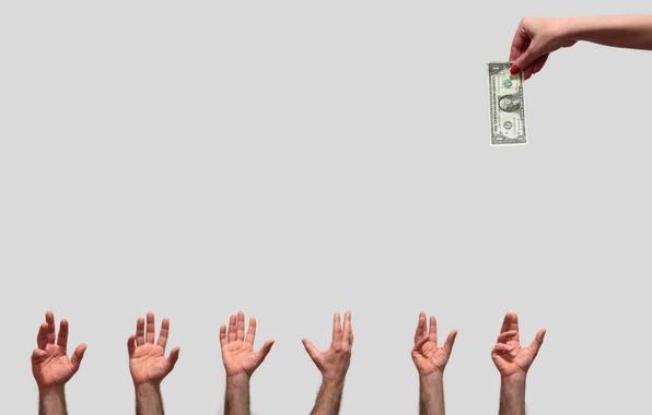 Picture money, hands, dollars