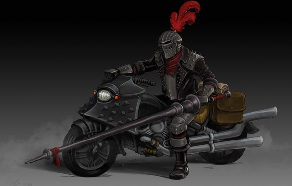 Picture art, bike, knight, Gladiator, Outlaw Biker, Nick Kester
