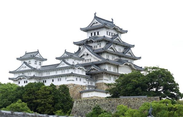 Picture landscape, house, Japan, architecture, Himeji Castle