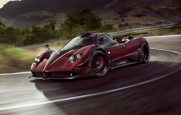 Picture speed, supercar, Pagani, Zonda, 2017, Ghost Evo