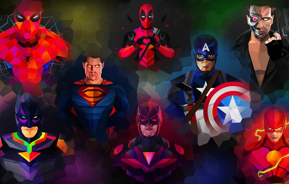Picture purple, orange, blue, yellow, red, green, weapons, grey, lilac, power, pink, batman, spider-man, spider-man, green, …