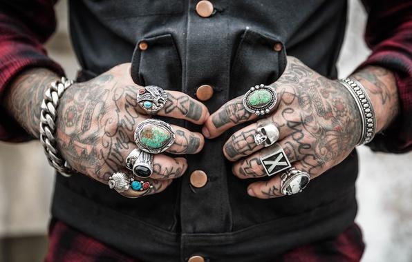 Picture skull, hands, tattoo, button, chain, bracelet, sake, tattoo, cell, tattoo, vest, shirt, chain, vest, sheet, …