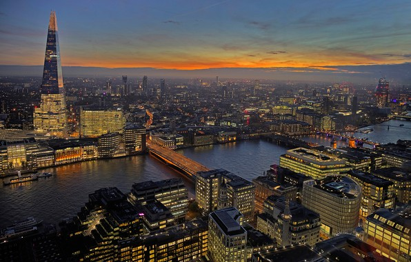 Picture lights, river, England, London, tower, home, panorama, Thames