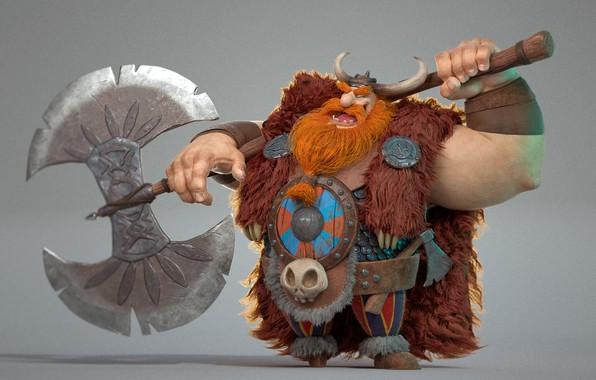 Picture viking, 3D, Labrys, otavio liborio, Bjorn!