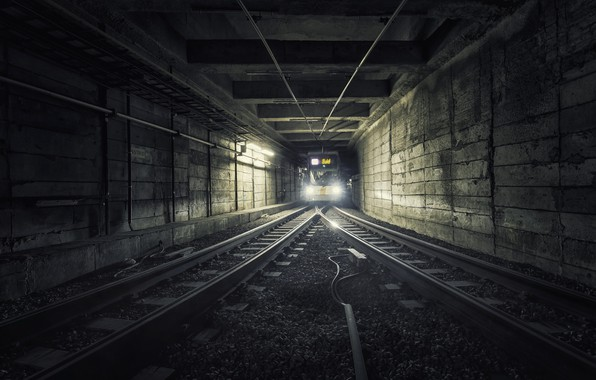 Picture metro, train, the tunnel
