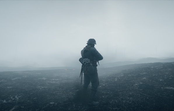 Picture fog, war, the game, soldiers, Electronic Arts, Battlefield 1