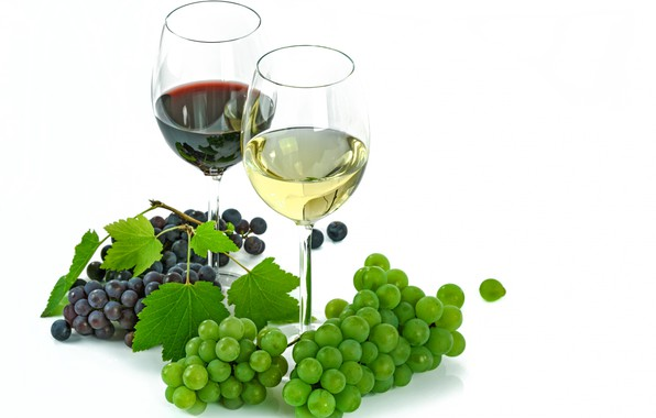 Picture berries, wine, glass, grapes