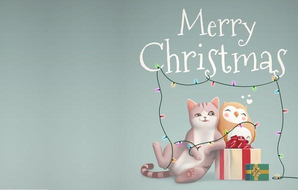 Picture holiday, gift, art, New year, children's, Merry Christmas and Happy New Year, Jordi Villarroya