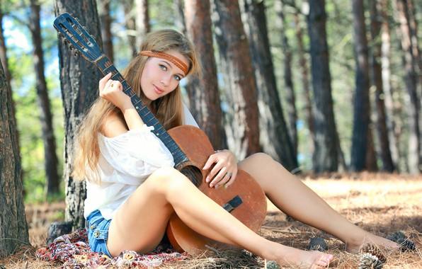 Picture Girl, Guitar, Model, Beauty, Beautiful, Cute, Posing, Attractive, Cutie, Erica B, Khan D, Marianna Merkulova, …